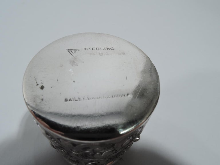 American Antique Philadelphia Sterling Silver Travelling Inkwell For Sale