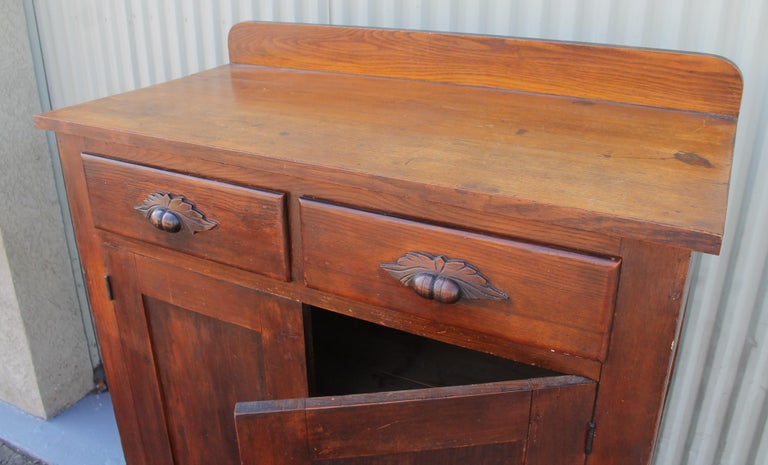 Hand-Crafted Antique Pie Safe or Jelly Cupboard Combo For Sale