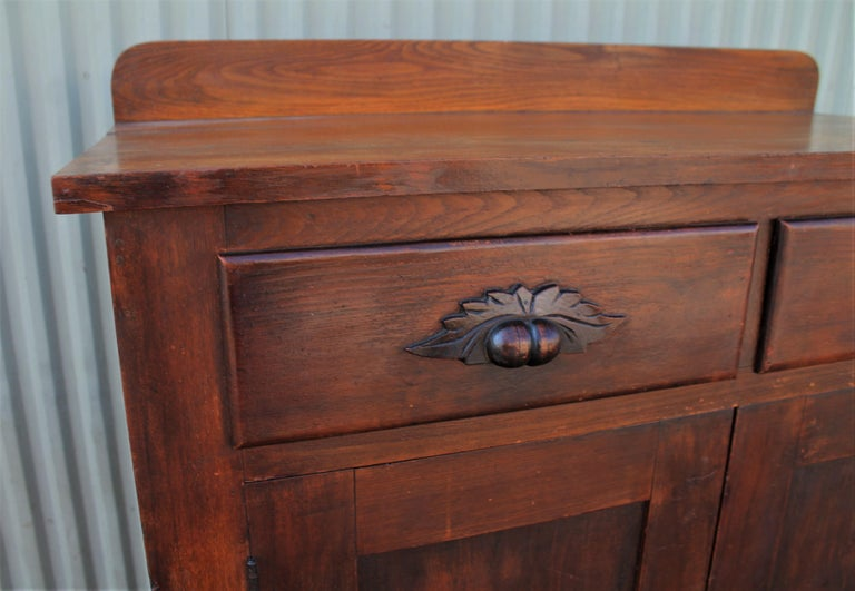 Antique Pie Safe or Jelly Cupboard Combo In Good Condition For Sale In Los Angeles, CA