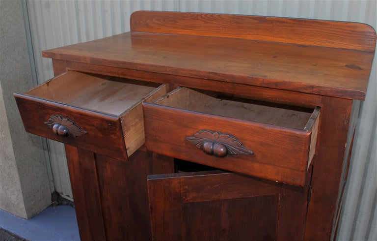 Wood Antique Pie Safe or Jelly Cupboard Combo For Sale