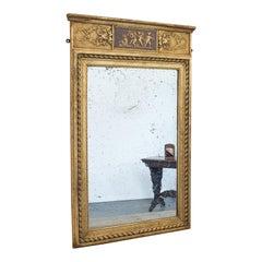 Antique Pier Mirror, English, Gilt Gesso, Hall, Foxing, Regency, circa 1820