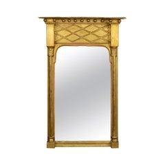 Antique Pier Mirror, English, Regency, Giltwood, Gesso, Wall, circa 1820