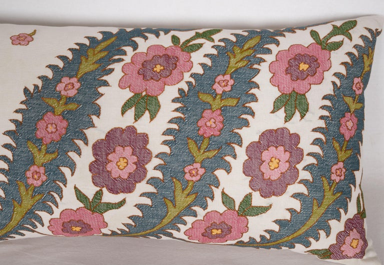 Suzani Antique Pillow Case Fashioned from an Eastern European Embroidery