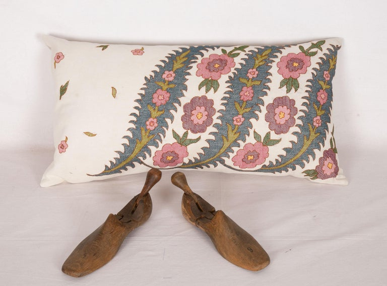 Embroidered Antique Pillow Case Fashioned from an Eastern European Embroidery