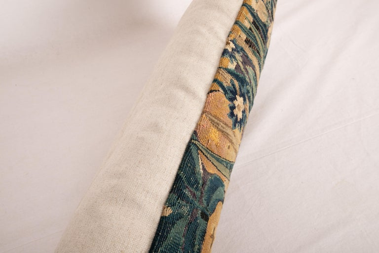 18th Century and Earlier Antique Pillow Case Made from a Flemish Tapestry Fragment, 18th Century For Sale