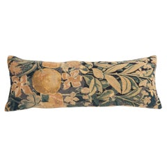 Antique Pillow Case Made from a Flemish Tapestry Fragment, 18th Century