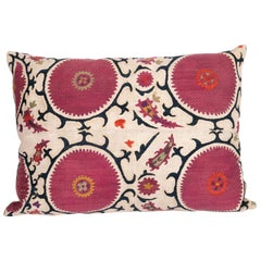 Antique Pillow Case Made from a Late 19th Century Tajik Suzani