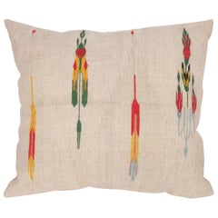 Antique Pillow Case Made from a Metallic Thread Syrian Tapestry, Early 20th C