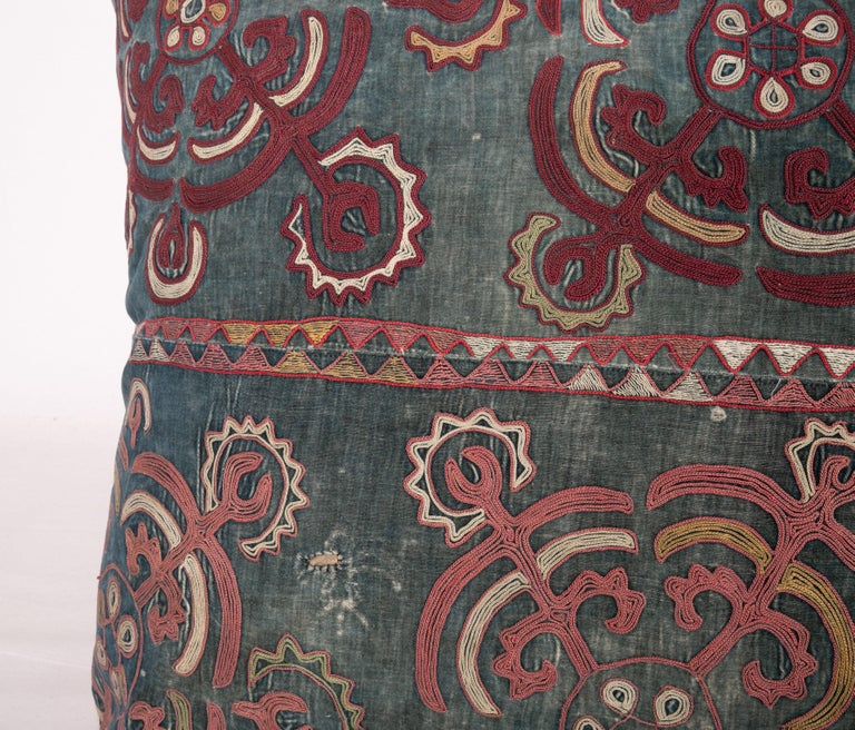 Suzani Antique Pillow Case Made from an E 20 C, Kyrgyz Embroidery For Sale