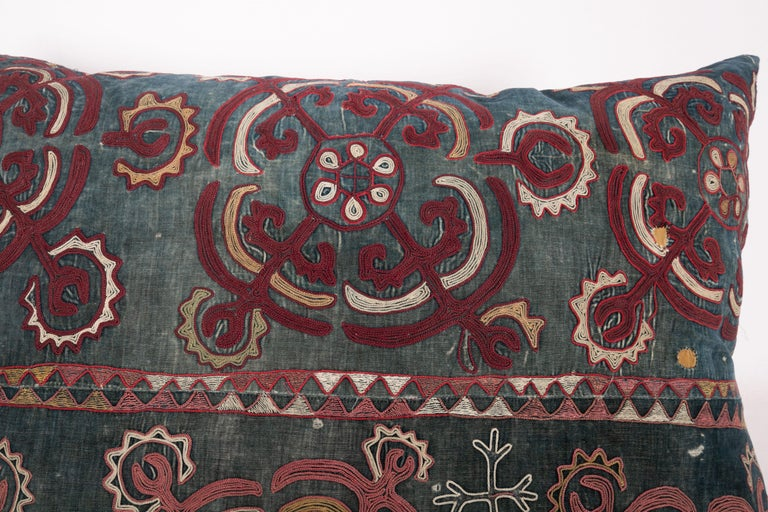 Kyrgyzstani Antique Pillow Case Made from an E 20 C, Kyrgyz Embroidery For Sale