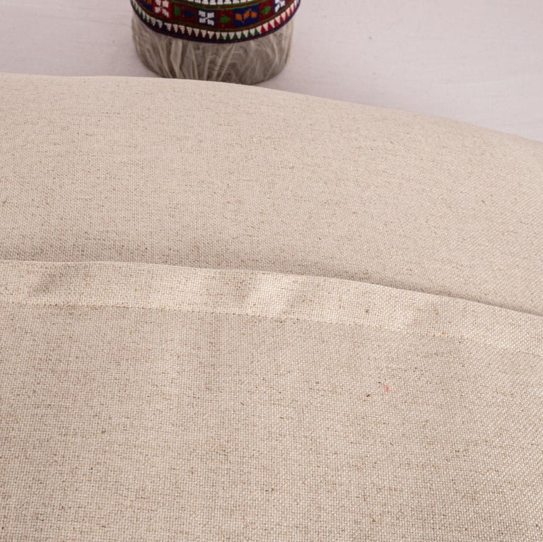 Antique Pillow Case Made from an E 20 C, Kyrgyz Embroidery In Good Condition For Sale In Istanbul, TR