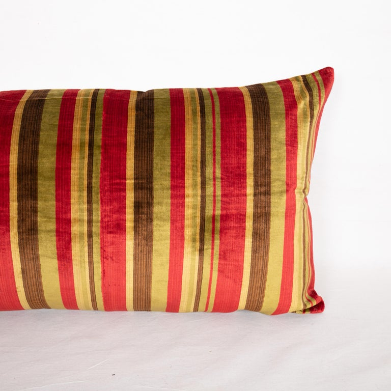 Tribal Antique Pillow Case Made from an Early 20th Century Silk Velvet from Uzbekistan For Sale