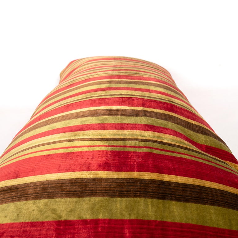 Antique Pillow Case Made from an Early 20th Century Silk Velvet from Uzbekistan For Sale 2