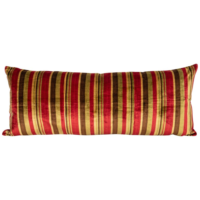Antique Pillow Case Made from an Early 20th Century Silk Velvet from Uzbekistan For Sale