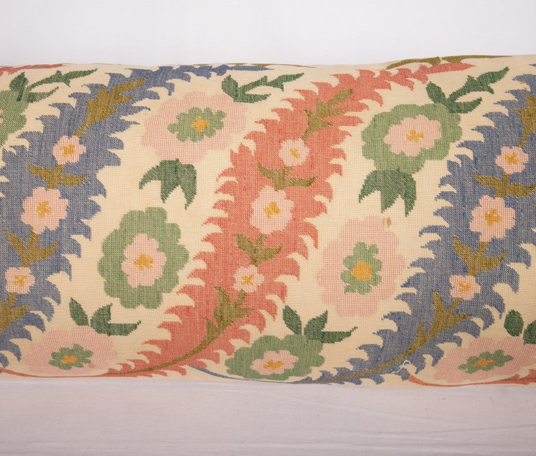 Suzani Antique Pillow Case Made from an Eastern European, Greek Embroidery For Sale