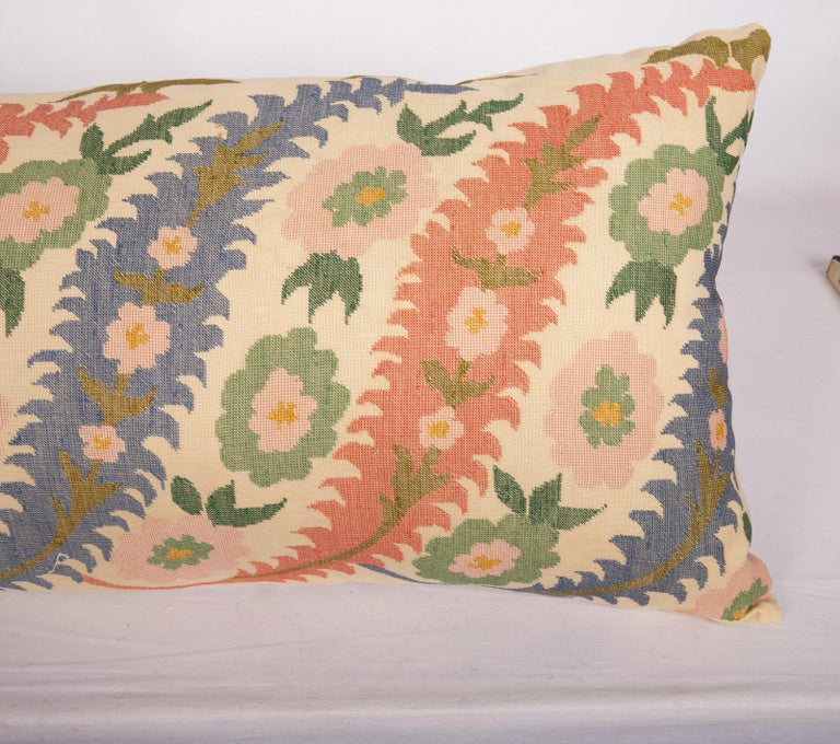 Balkan Antique Pillow Case Made from an Eastern European, Greek Embroidery For Sale