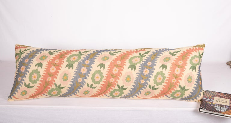 Embroidered Antique Pillow Case Made from an Eastern European, Greek Embroidery For Sale