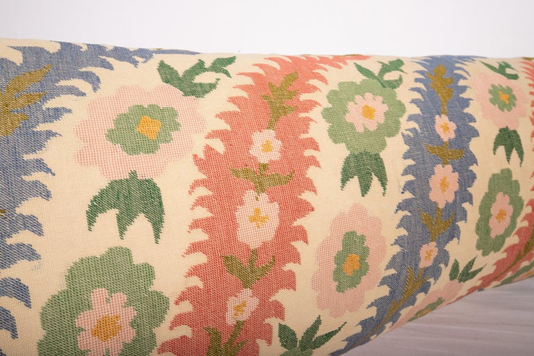 Silk Antique Pillow Case Made from an Eastern European, Greek Embroidery For Sale