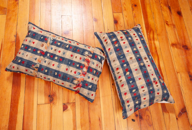 Pillow Cases Fashioned from an Anatolian Kilim Fragment, Late 19th Century In Good Condition For Sale In Istanbul, TR