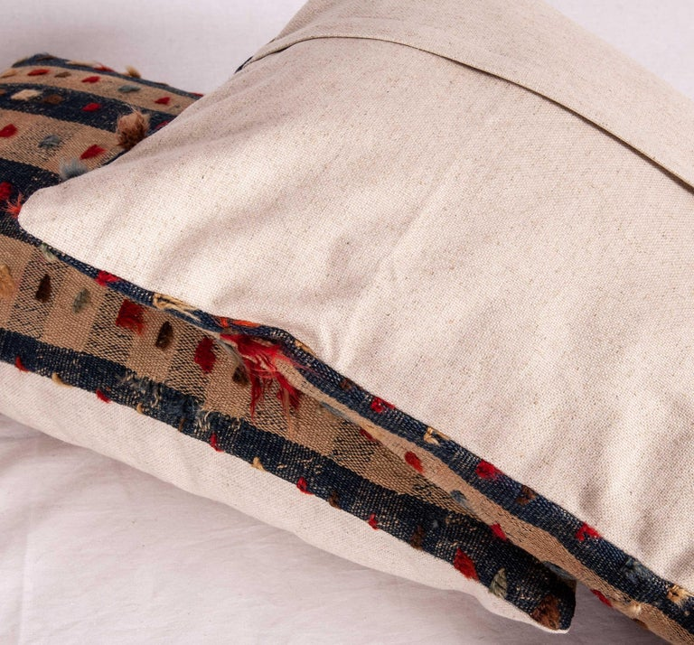 Wool Pillow Cases Fashioned from an Anatolian Kilim Fragment, Late 19th Century For Sale