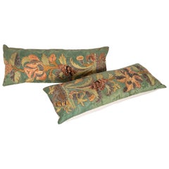 Antique Pillow Cases Fashioned from an Embroidered European Applique Panel