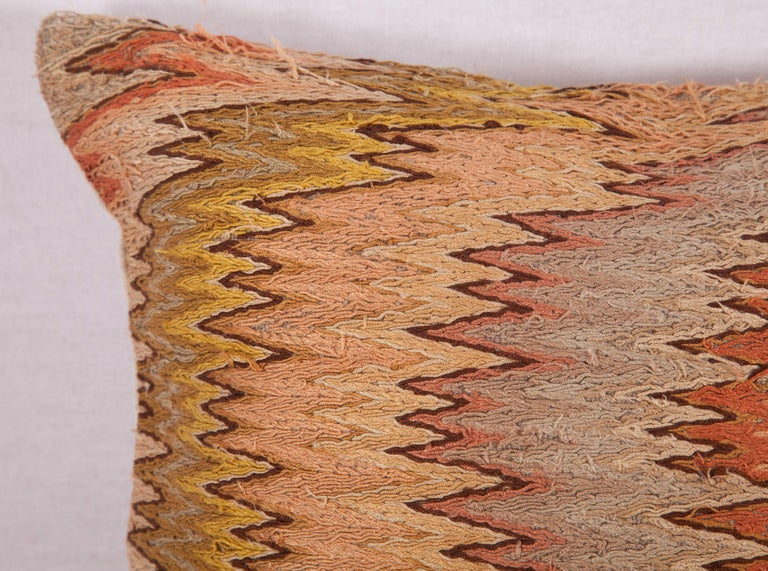 Aesthetic Movement Antique Pillow Made from 18th-19th Century Italian Bargello Flame Stitch For Sale