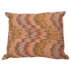 Antique Pillow Made from a 18th-19th Century Italian Bargello Flame Stitch