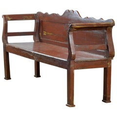 Antique Pine Bench, 1920s