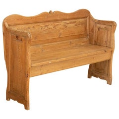 Antique Pine Bench from Sweden, circa 1880