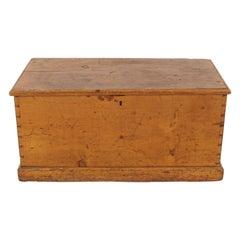 Antique Pine Blanket Box, Toybox, Coffee Table, Dovetailed, Scotland 1890, B2308