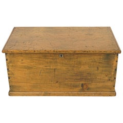 Antique Pine Blanket Box, Victorian Trunk or Coffee Table, Scotland, 1880