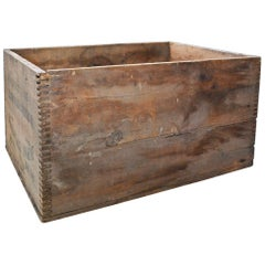 Antique Pine Box Made by Du Pont for Explosives