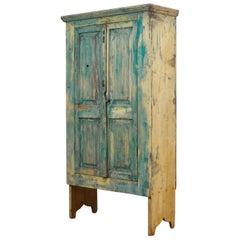 Antique Pine Cabinet from Moldova, circa 1910