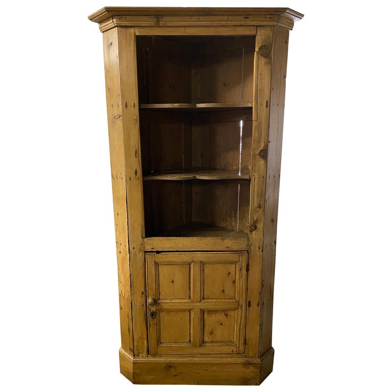 Antique Pine Corner Cupboard For Sale At 1stdibs