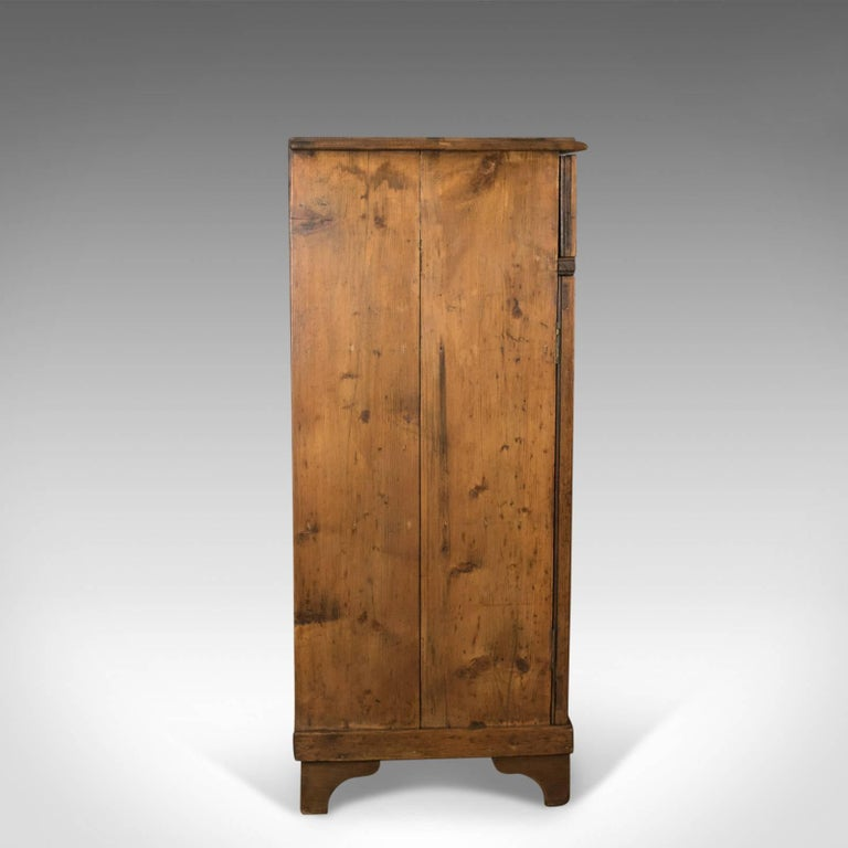 Antique Pine Cupboard, English, Victorian, Cabinet, Pitch Pine, circa 1880 In Good Condition For Sale In Taunton, GB