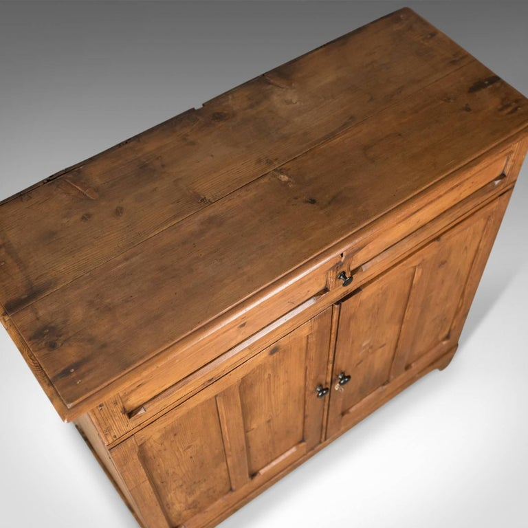 19th Century Antique Pine Cupboard, English, Victorian, Cabinet, Pitch Pine, circa 1880 For Sale
