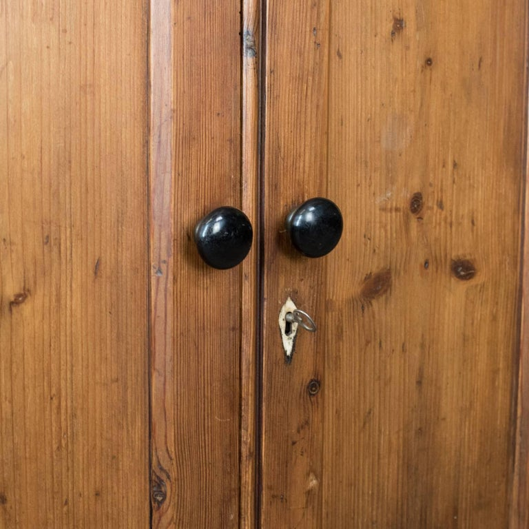 Antique Pine Cupboard, English, Victorian, Cabinet, Pitch Pine, circa 1880 For Sale 2