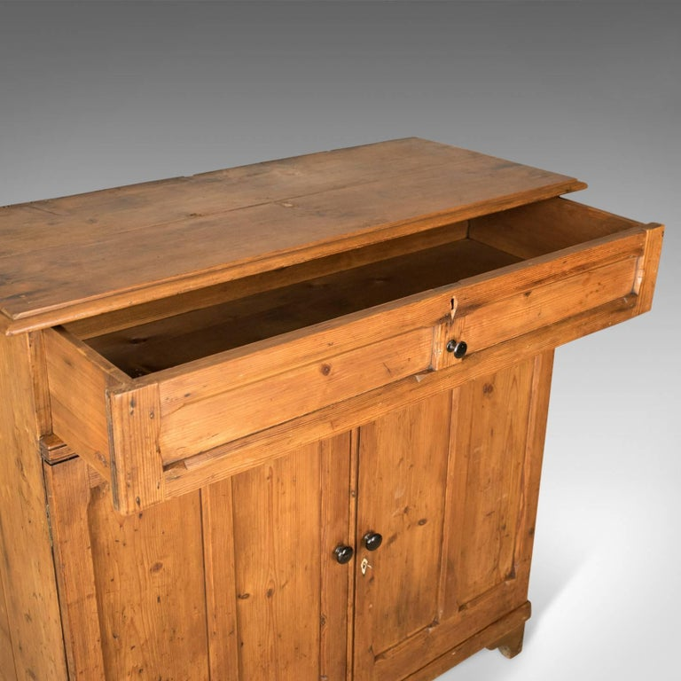 Antique Pine Cupboard, English, Victorian, Cabinet, Pitch Pine, circa 1880 For Sale 3