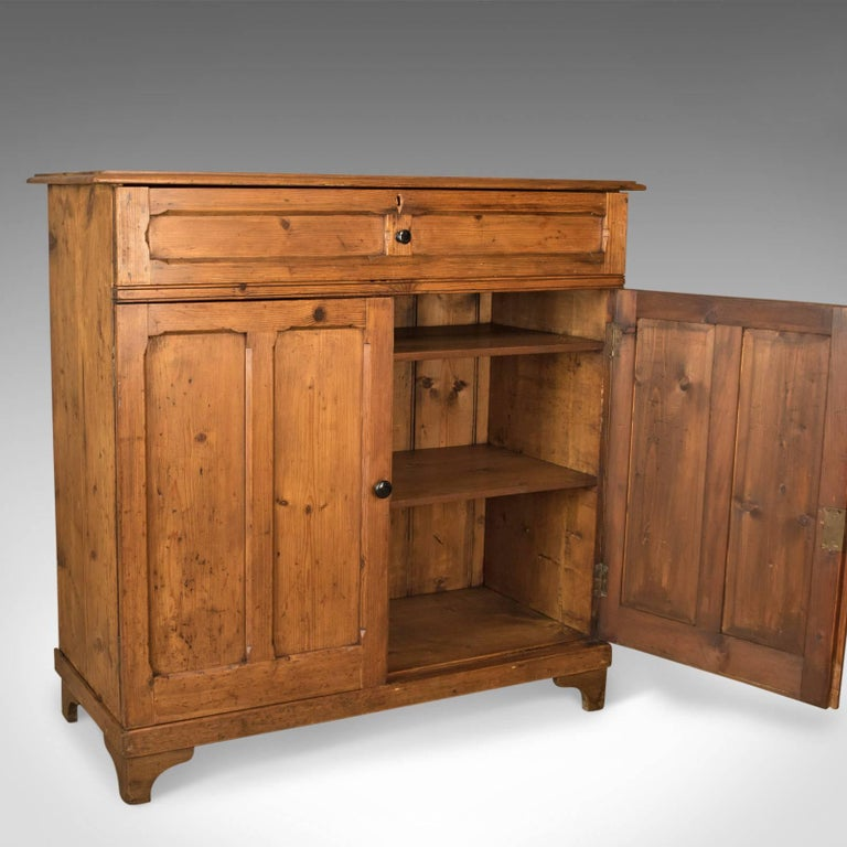 Antique Pine Cupboard, English, Victorian, Cabinet, Pitch Pine, circa 1880 For Sale 4