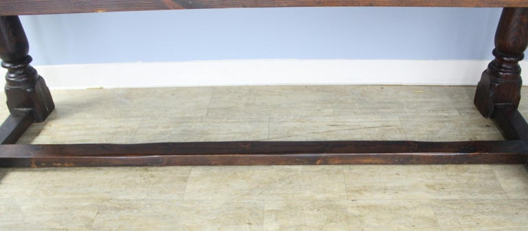 Antique Pine Dining Table with Refectory Base 5