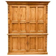 Antique Pine Entertainment Cabinet