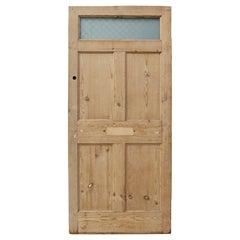 Antique Pine Front Door with Glass Panel