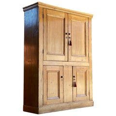 Antique Pine Housekeepers Cupboard 19th Century Victorian Circa 1890 Number 3