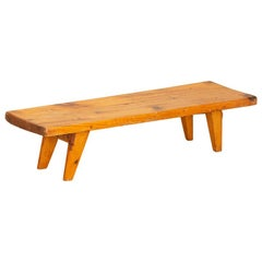 Antique Pine Low Bench, Sweden