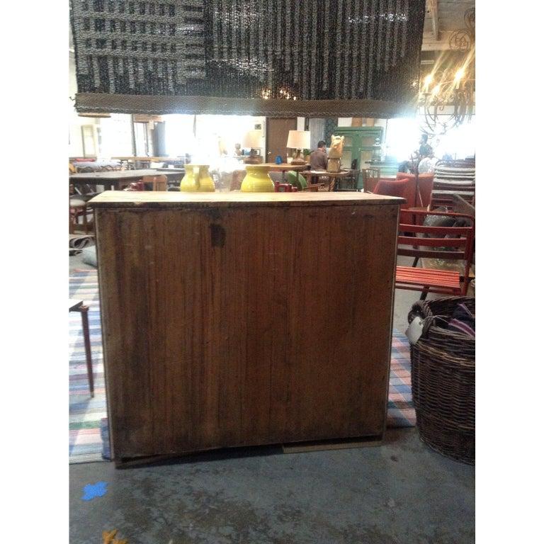 Antique Pine Mesh Cabinet For Sale 1