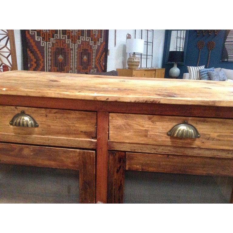 Antique Pine Mesh Cabinet For Sale 2