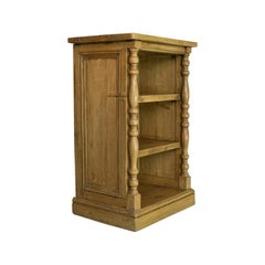 Antique Pine Open Bookcase, Narrow, English, Victorian, Bookshelf, circa 1900