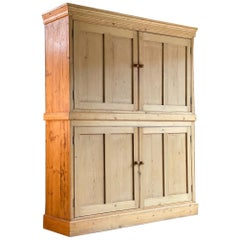 Antique Pine School Cupboard Pantry, Early 20th Century