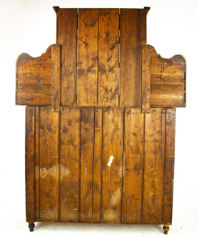 Antique Pine Sideboard, Farmhouse Sideboard, Kitchen Dresser, Scotland, 1880 For Sale 4