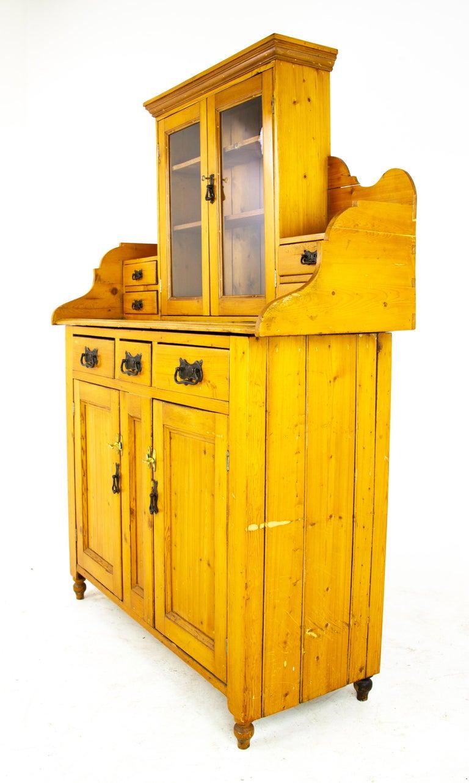 Scottish Antique Pine Sideboard, Farmhouse Sideboard, Kitchen Dresser, Scotland, 1880 For Sale